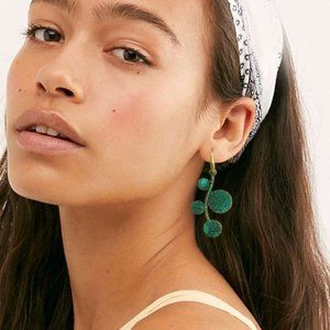 Free People Earrings Golden Green Patina